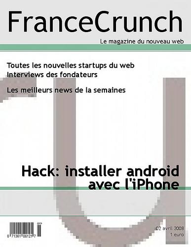 FranceCrunch, android sur l'iPhone