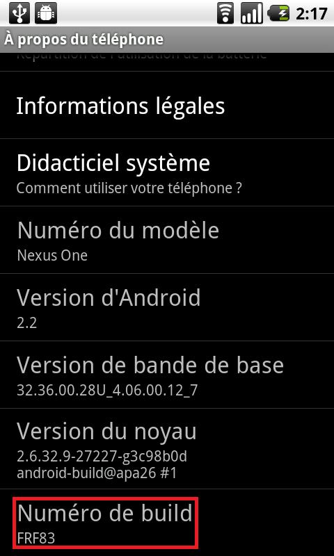 MàJ) Nexus One : Une nouvelle mise à jour Android 2 2