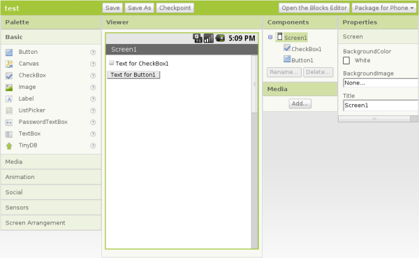 Permet l'edition application android par glisse-depose