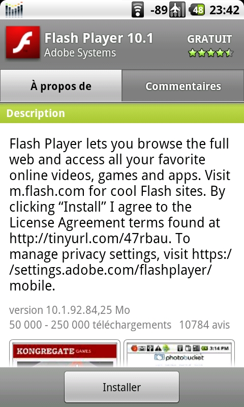 telecharger mise a jour flash player gratuit