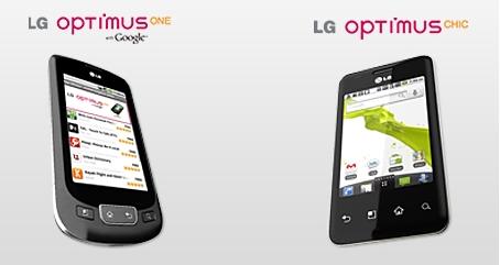 LG Optimus One et Chic