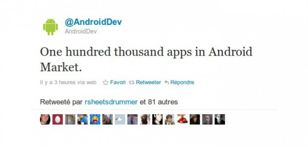 Android Market 100 000