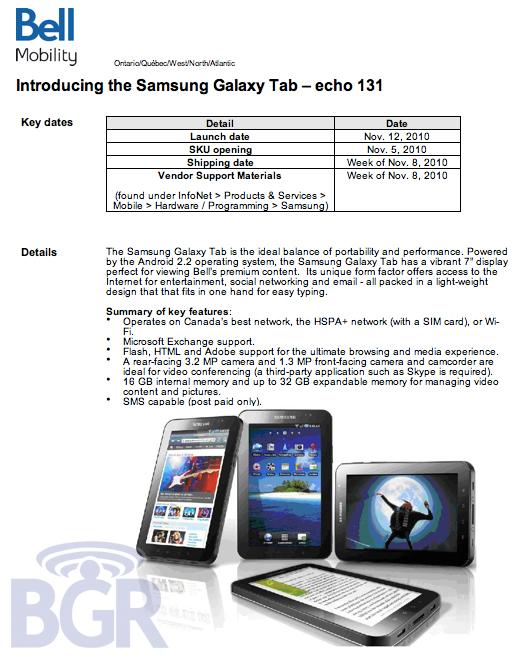 Bell-Galaxy-Tab