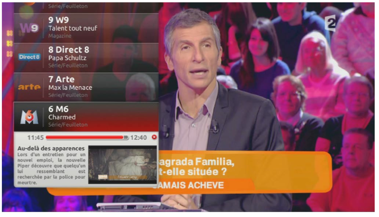 french freebox tv interface