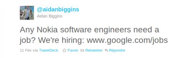 Need a job ? Go to Google !