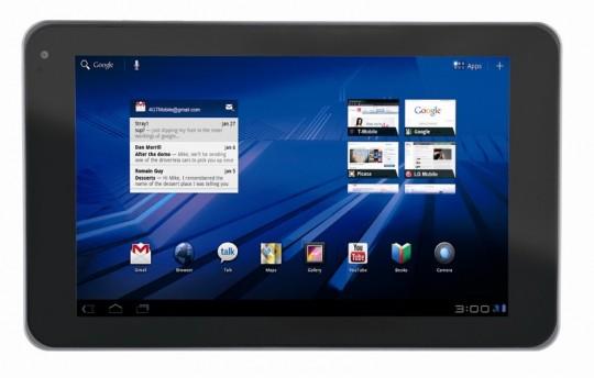 La tablette lg optimus pad 650 euros m j frandroid - Tablette a petit prix ...