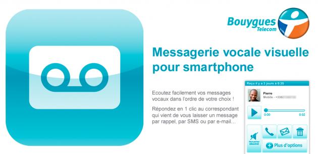 bouygues telecom lance son application de messagerie vocale visuelle sur android frandroid. Black Bedroom Furniture Sets. Home Design Ideas