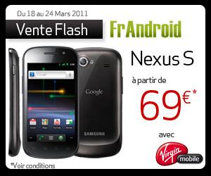 vente flash le google nexus s en version blanche chez virgin mobile frandroid. Black Bedroom Furniture Sets. Home Design Ideas
