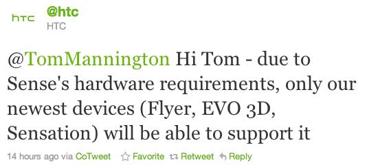 HTC Sense 3.0 solo su Sensation, EVO 3D e Flyer [Aggiornamento]