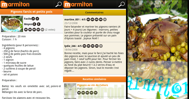 Régalez vos papilles avec l'application MARMITON ! | FrAndroid ...