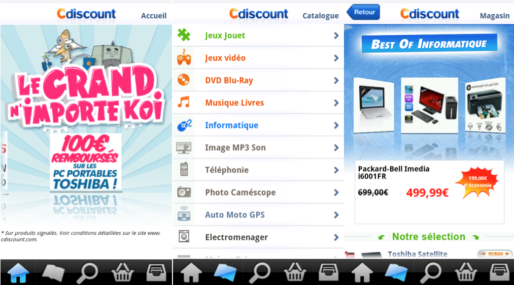 nochinoman l application cdiscount est maintenant disponible sur l android market. Black Bedroom Furniture Sets. Home Design Ideas