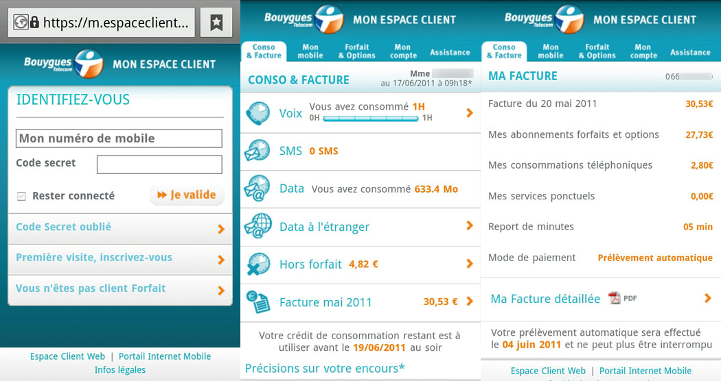 L Espace Client De Bouygues Telecom Est Disponible Dans Une Version Mobile