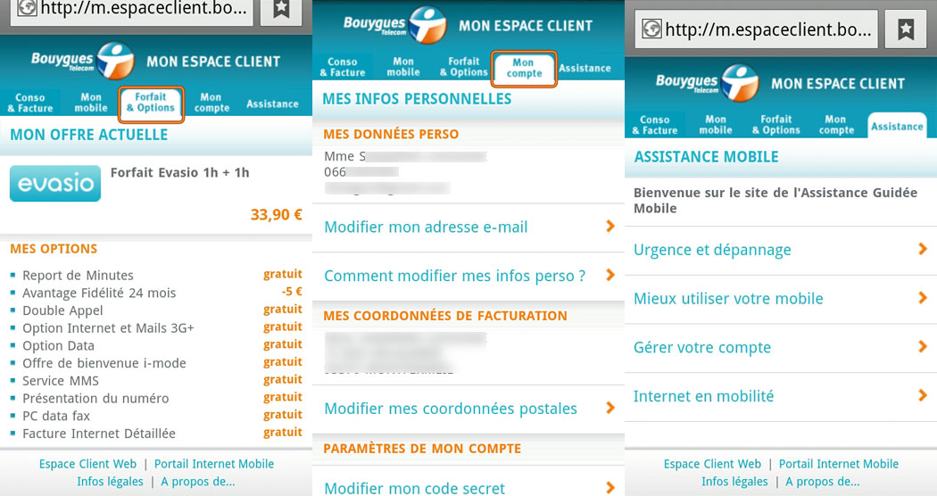Bouygues on Android Secret Codes