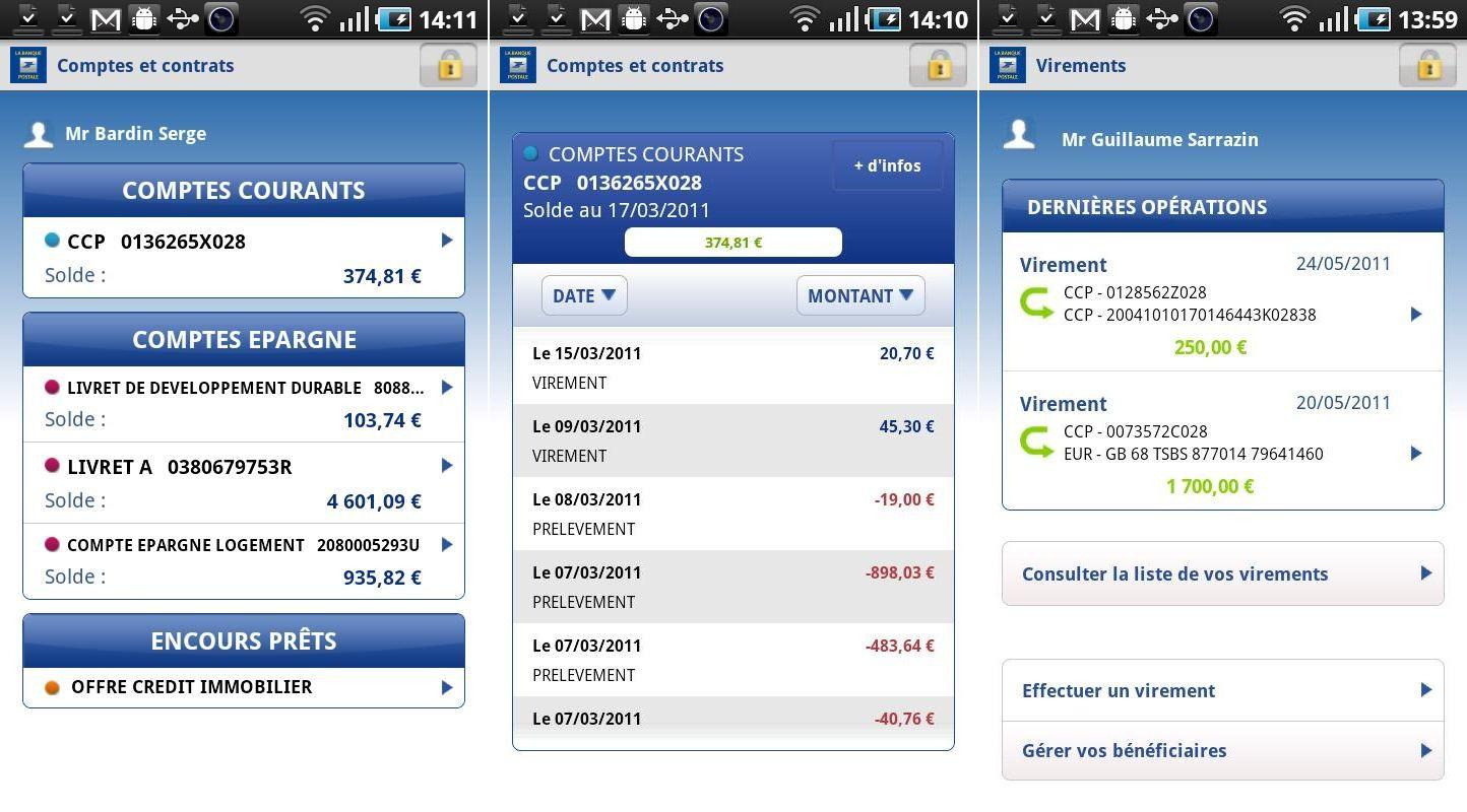 Souvent Accès compte, une application de La Banque Postale disponible sous  VU84