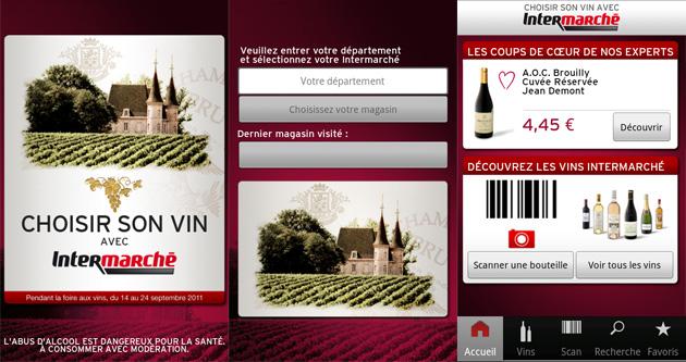 intermarch sort une application pour vous aider choisir votre vin frandroid. Black Bedroom Furniture Sets. Home Design Ideas