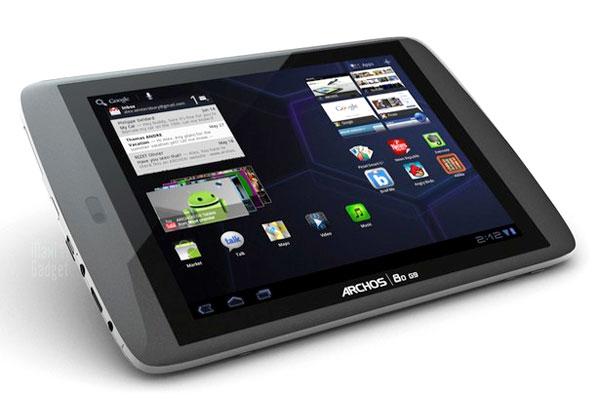 Test de l'Archos 80 G9 sous Android 3.2
