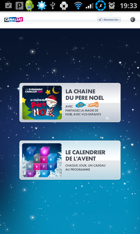 Le Noël De CANALSAT Sur Android FrAndroid - Chaine cuisine canalsat