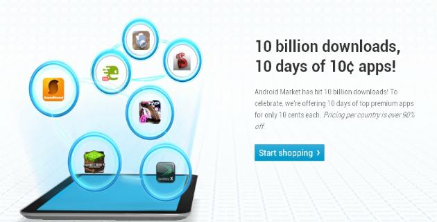 android market 10 centimes l application pour une dur e limit e. Black Bedroom Furniture Sets. Home Design Ideas