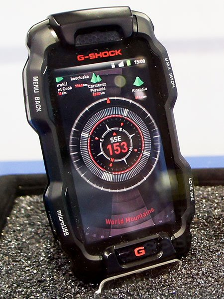casio g shock le smartphone tout preuve frandroid. Black Bedroom Furniture Sets. Home Design Ideas