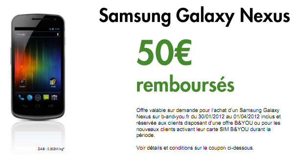 b you le galaxy nexus 461 euros gr ce une odr frandroid. Black Bedroom Furniture Sets. Home Design Ideas