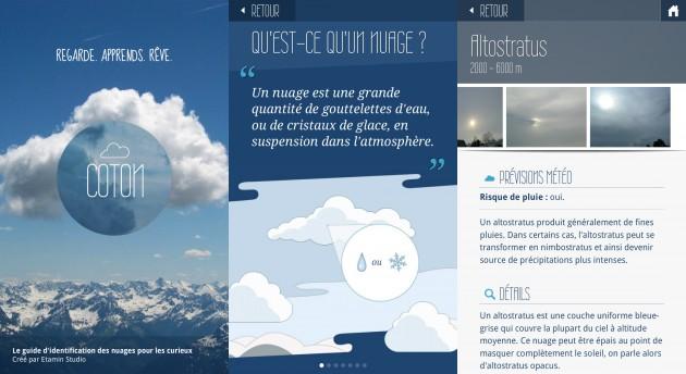 Application pour identifier les nuages