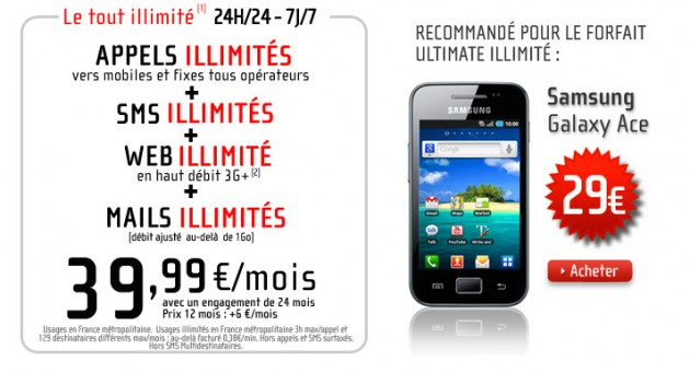 NRJ Mobile Forfait Ultimate illimité