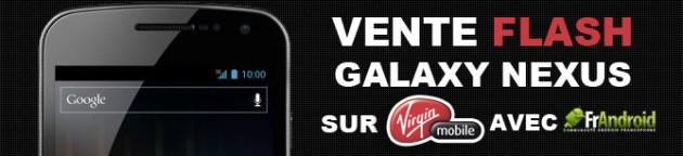 vente flash galaxy nexus 50 euros de r duction imm diate chez virgin mobile frandroid. Black Bedroom Furniture Sets. Home Design Ideas