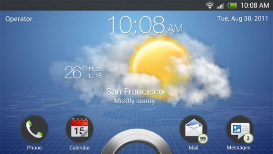 Les premières images de HTC Sense 4.0 sur l'Endeavor