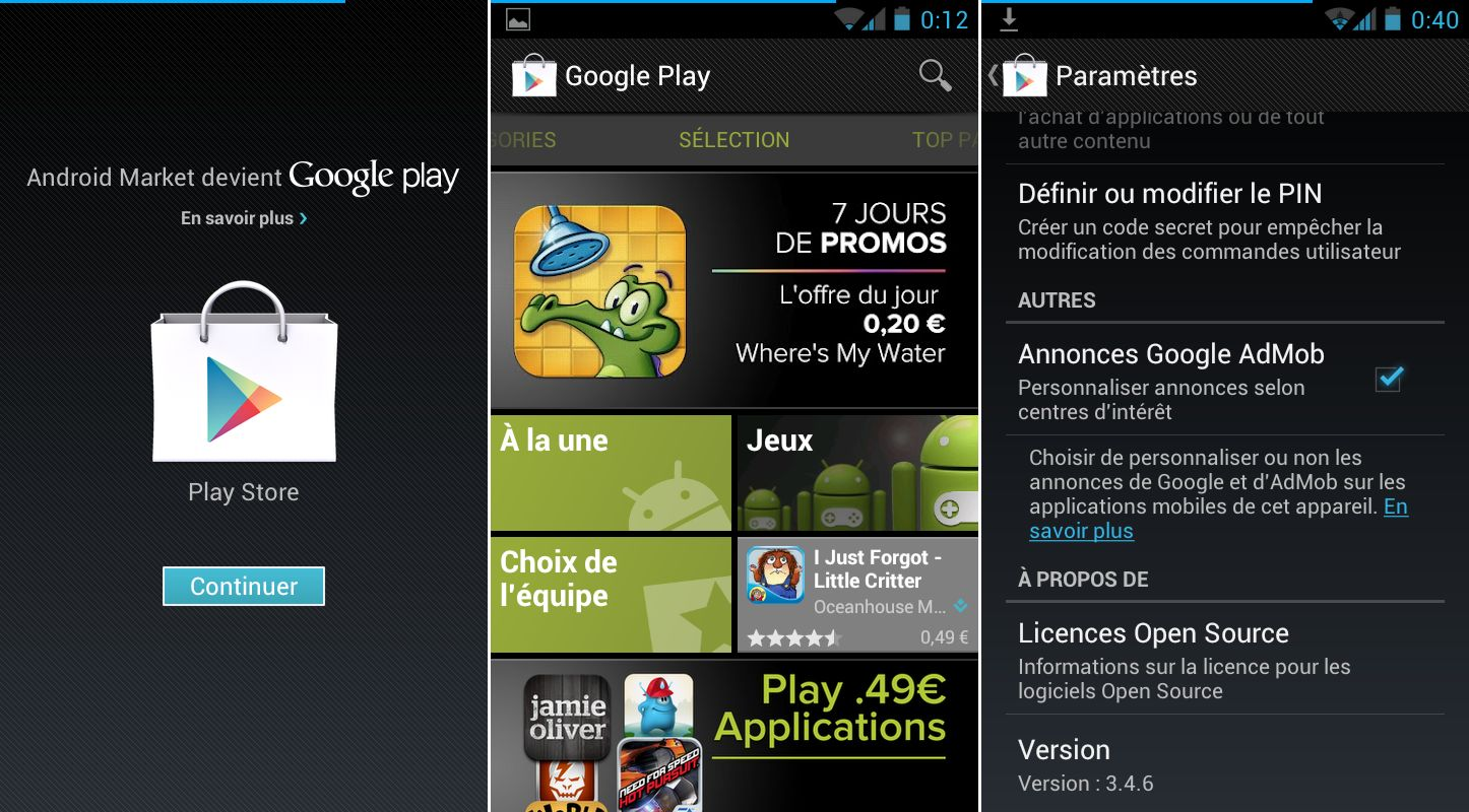 Play market android 2.3.3