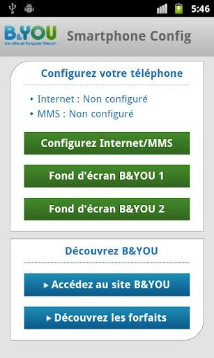 b you une application pour param trer plus facilement votre mobile apn sms mms frandroid. Black Bedroom Furniture Sets. Home Design Ideas