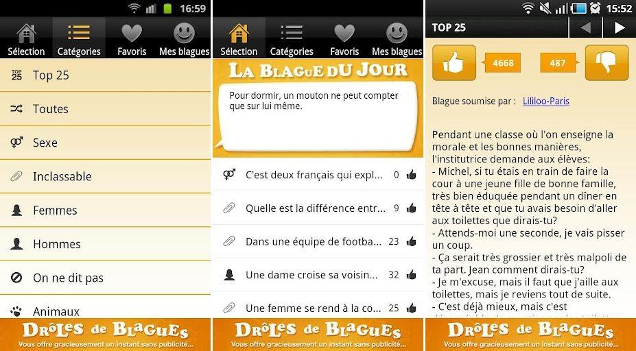 L Application Droles De Blagues Est Disponible Sur Android
