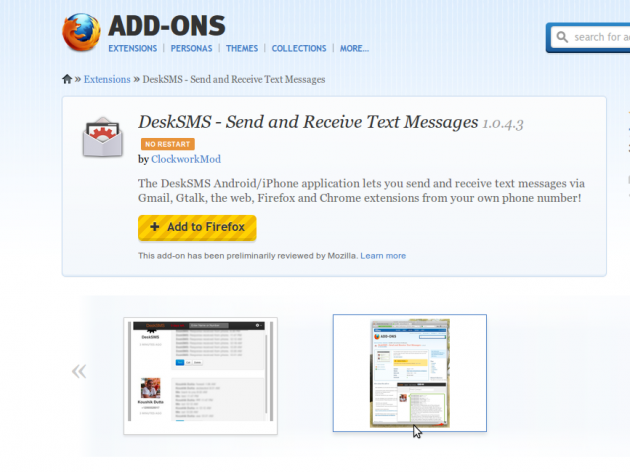 desksms-firefox-extension