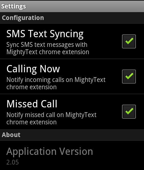 mightytext android