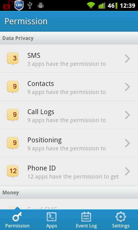 lbe privacy guard-permission