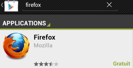 firefox play store pour tablette