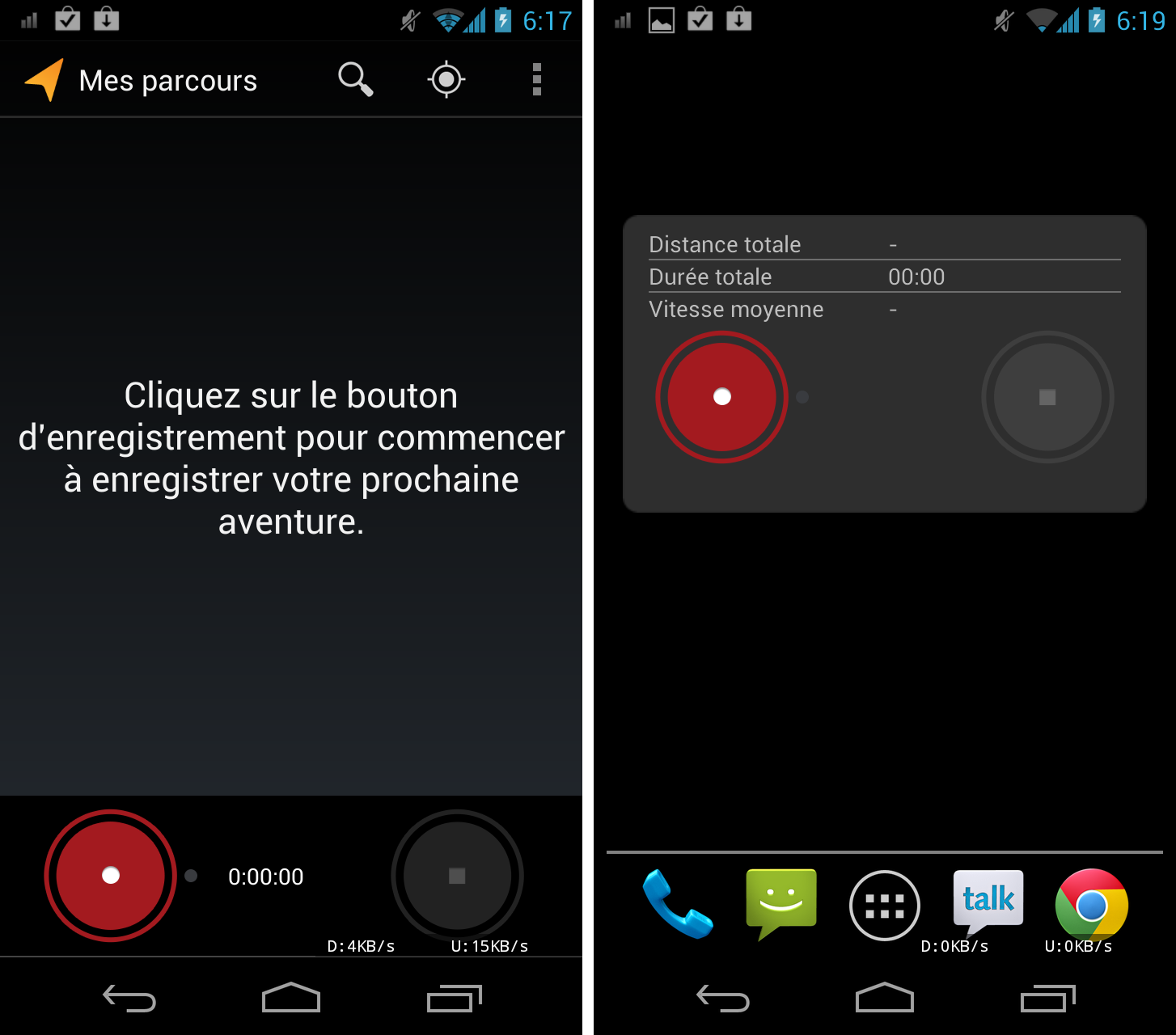 application pour vtt android
