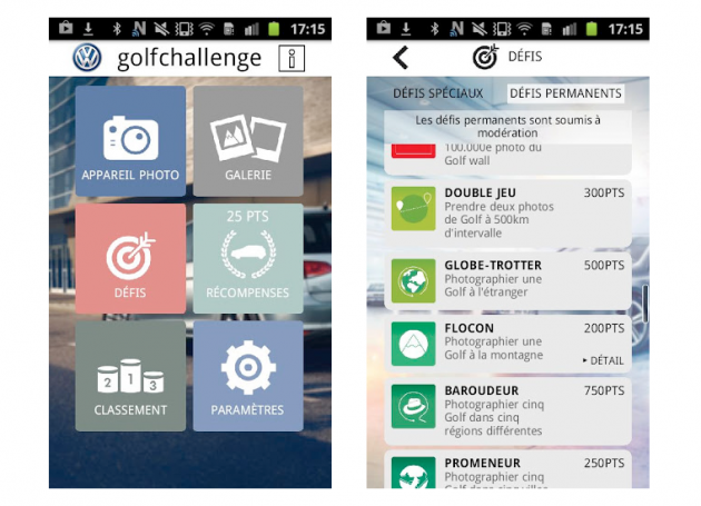 application Golf Challenge