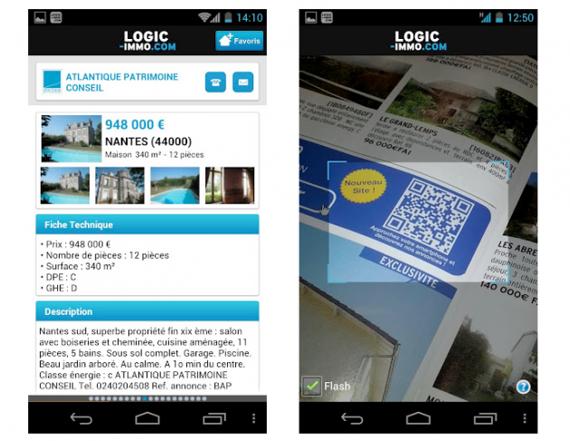 application logic-immo android