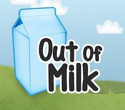 out of milk liste de courses