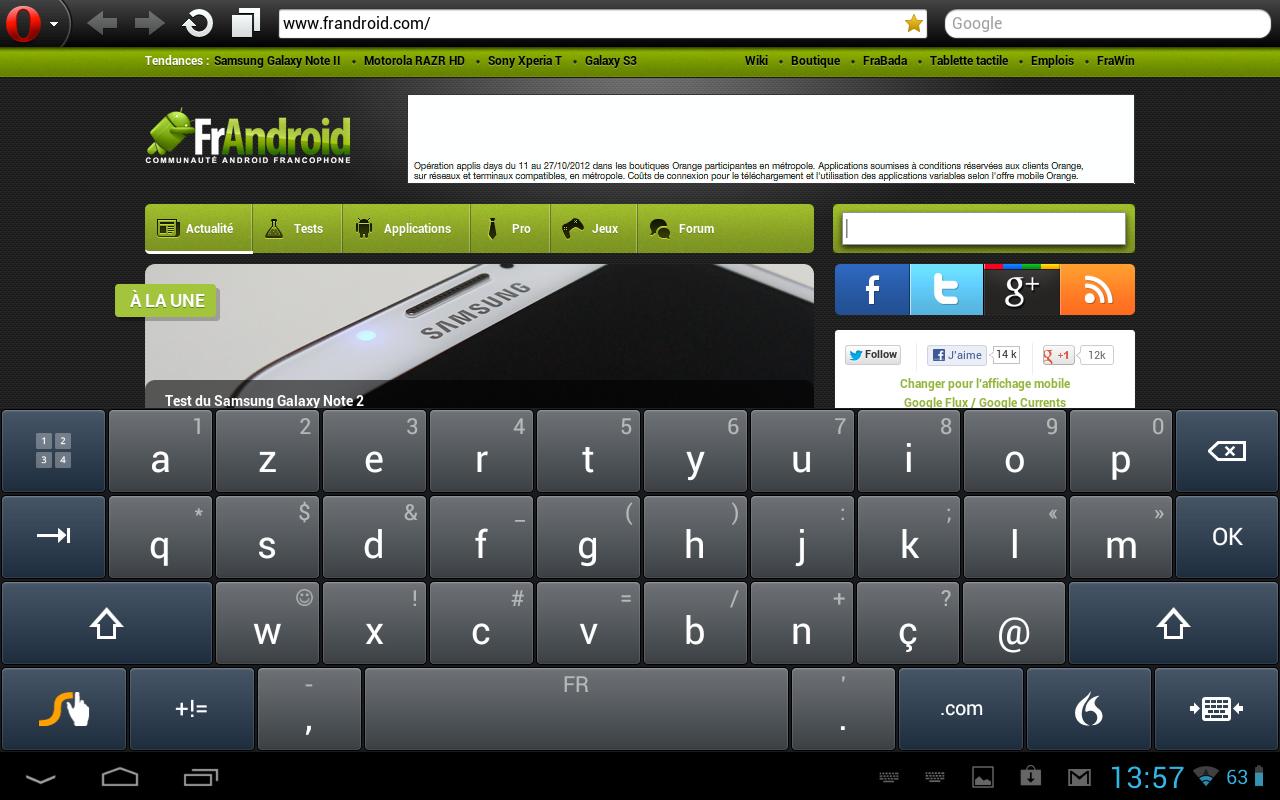 Le clavier swype se met jour 1 3 1 frandroid for Les parties du clavier