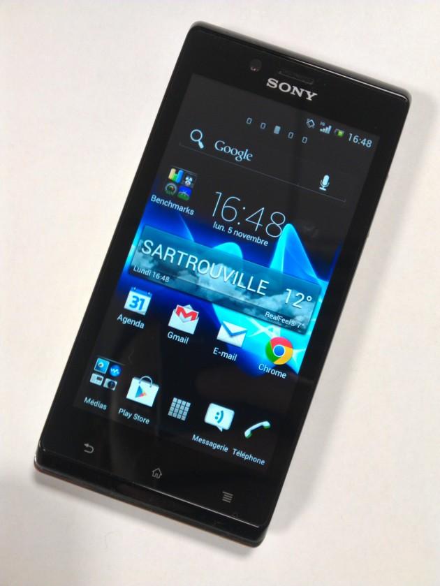Test du Sony Xperia J - Aspect général