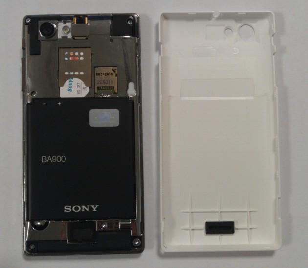 Test du Sony Xperia J - L'intérieur