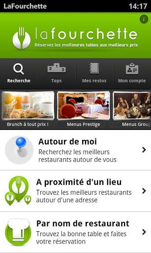 Application La Fourchette Restaurant