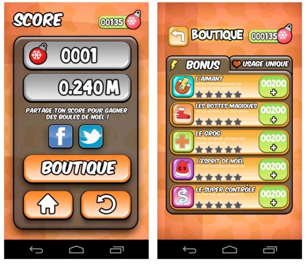 jeu Android Orange Noël