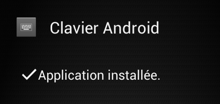 Afficher clavier android aosp 4.2 swype Installation