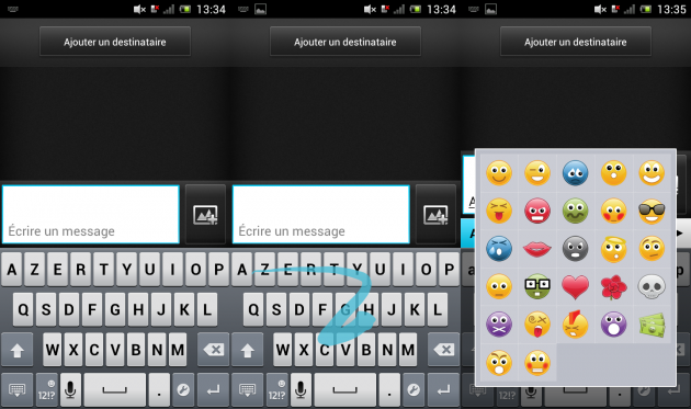 Test du Sony Xperia J - Android - Le clavier