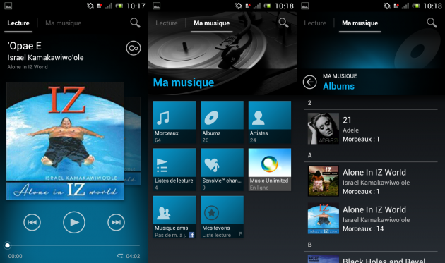 Test du Sony Xperia J - Walkman
