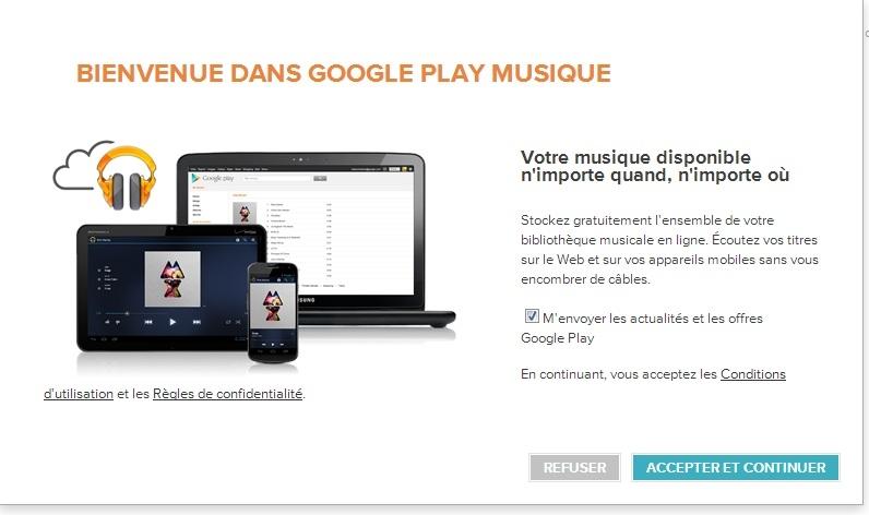Google Play Musique, l achat et le stockage en ligne est désormais ... 5accbb1aad01