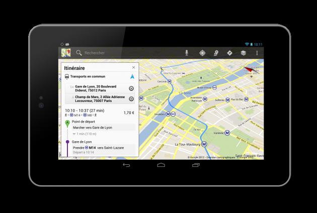 Google Transit Paris