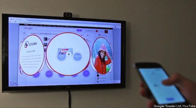 Google Plus transforme votre smartphone en une télécommande tactile